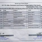 Backlog Examination Time-table for ALL FYs
